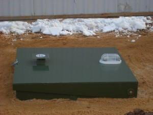 Аварийная сигнализация на крышке очистного сооружения Топас