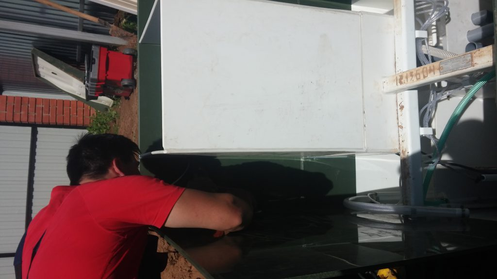 Пайка пластика горловины Топас