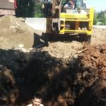 Монтаж УОСВ Топас 8 самотек в колодец