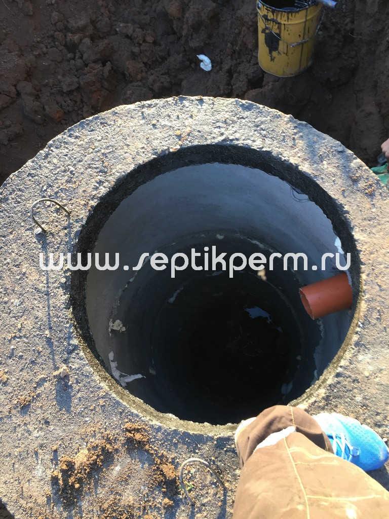 Монтаж выгребной ямы с гидроизоляцией