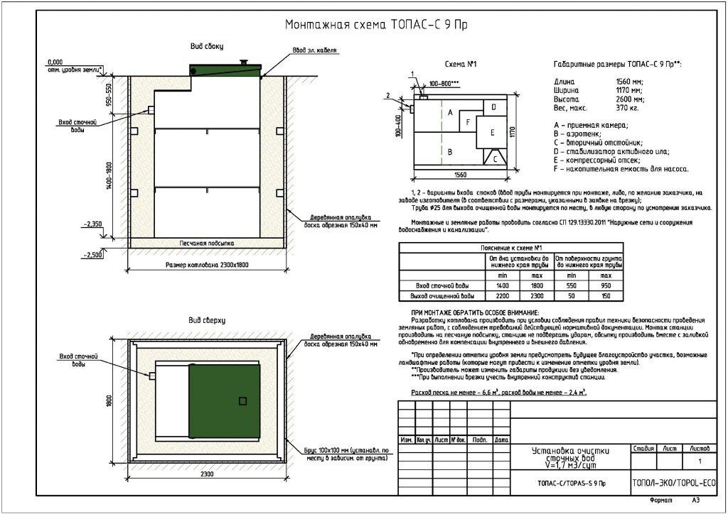 Монтажная схема Топас-С 9 Пр