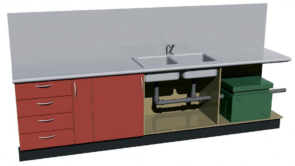 Жироуловитель под мойку установка