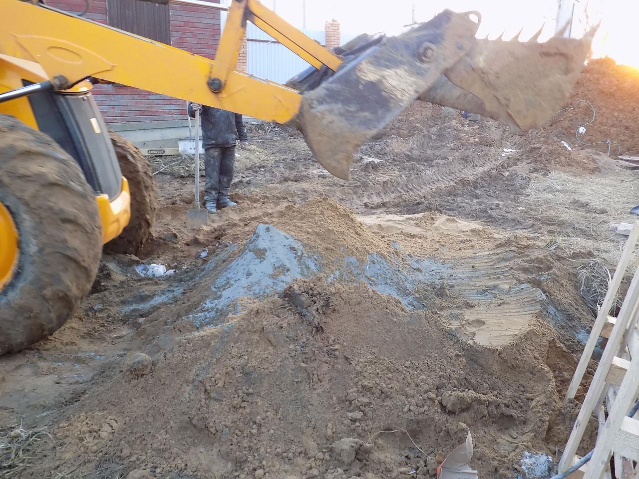 Подготовка песчано-цементной смеси