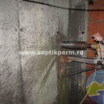 монтаж песчанополимерного колодца