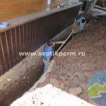 монтаж песчанополимерного кессона