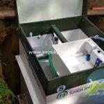 Шефмонтаж септика Топас 5 самотечный перелив очищенной воды в Полазне ул. 8 марта
