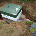 Шефмонтаж септика Топас 5 самотечный перелив очищенной воды