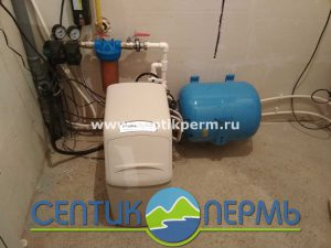 Установка умягчителя воды WaterBoss 400 в Запруде