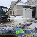 Монтаж септика глубокой биологической очистки Топас 8 Пр в поселке Мельница