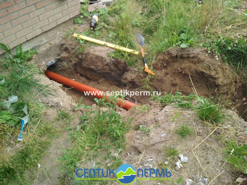 Установка локального-очистного сооружения Топас-С 8 Пр на ул.Грибная, с вывозом грунта.