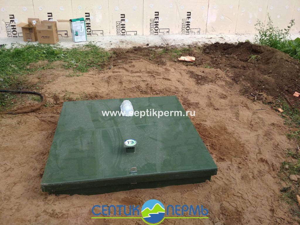 Монтаж устройства очистки сточных вод Топас 6 Пр