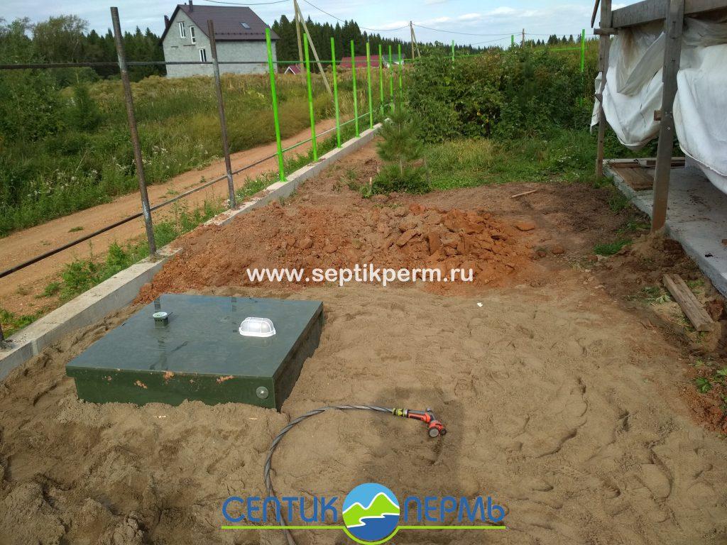 Монтаж устройства очистки сточных вод Топас 8 Принудительный выброс винфильтратором