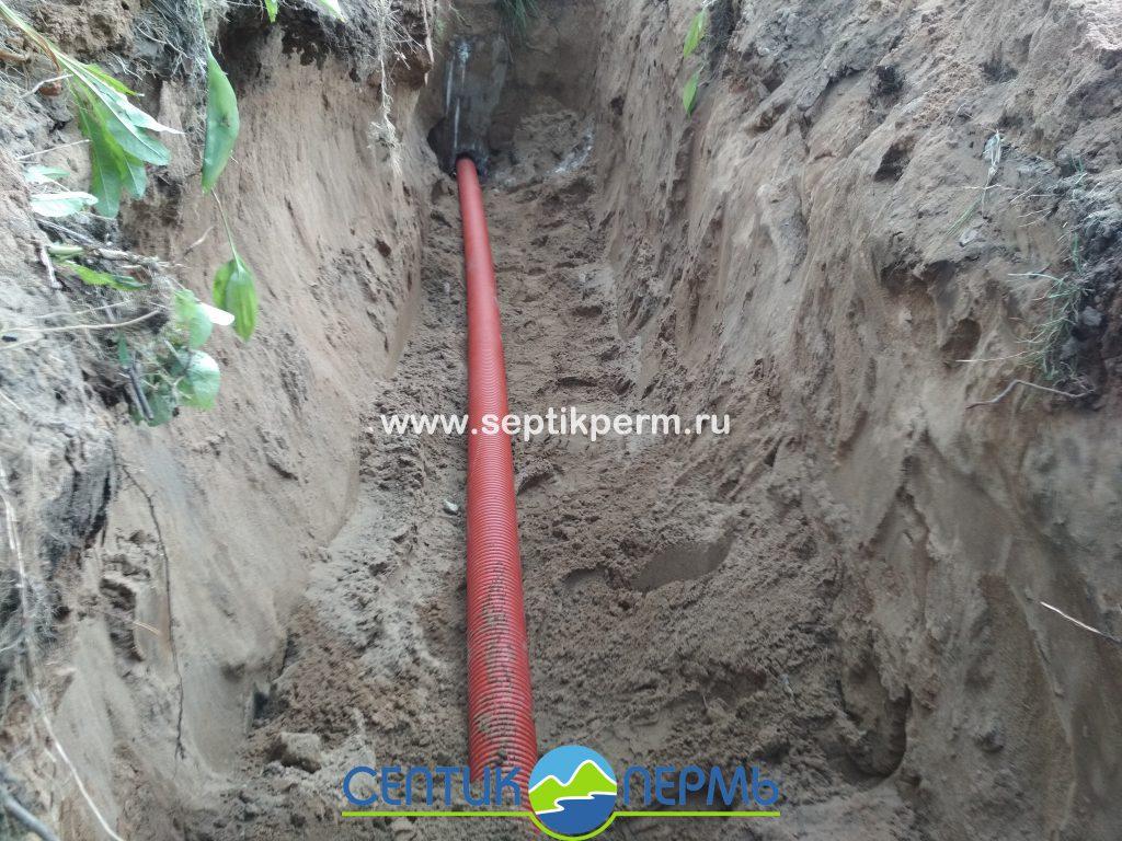 Установка автономной канализации Топас 10 на Докучаева.