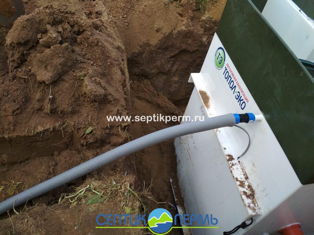 Монтаж устройства очистки сточных вод Топас 6 Пр в д.Костята ул.Набережная.