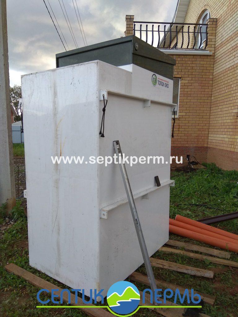 Установка станции глубокой биологической очистки Топас 8на 4-я Новгородская, Вышка 2.