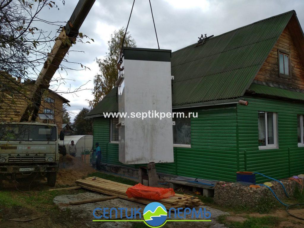 Монтаж локального очистного сооружения Топас-С 5 на Вышке.