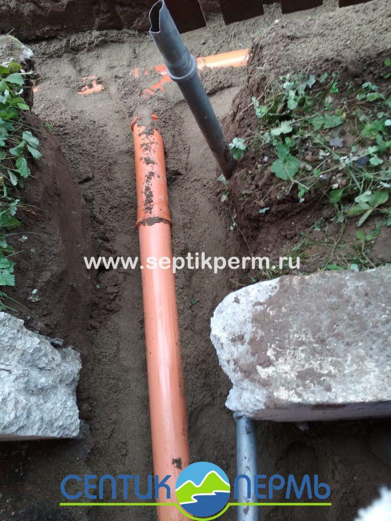 Монтаж устройства очистки сточных вод Топас-С 6 в Громотухе.
