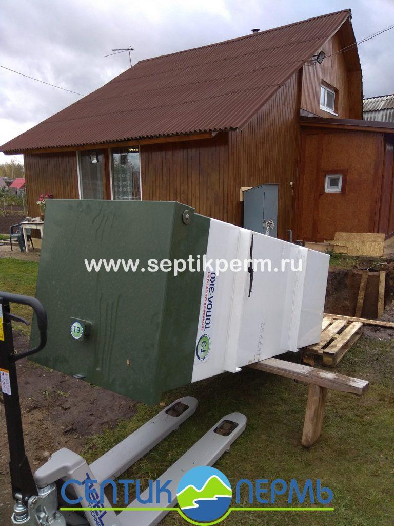 Монтаж устройства очистки сточных вод Топас-С 4 Пр в Краснокамске.