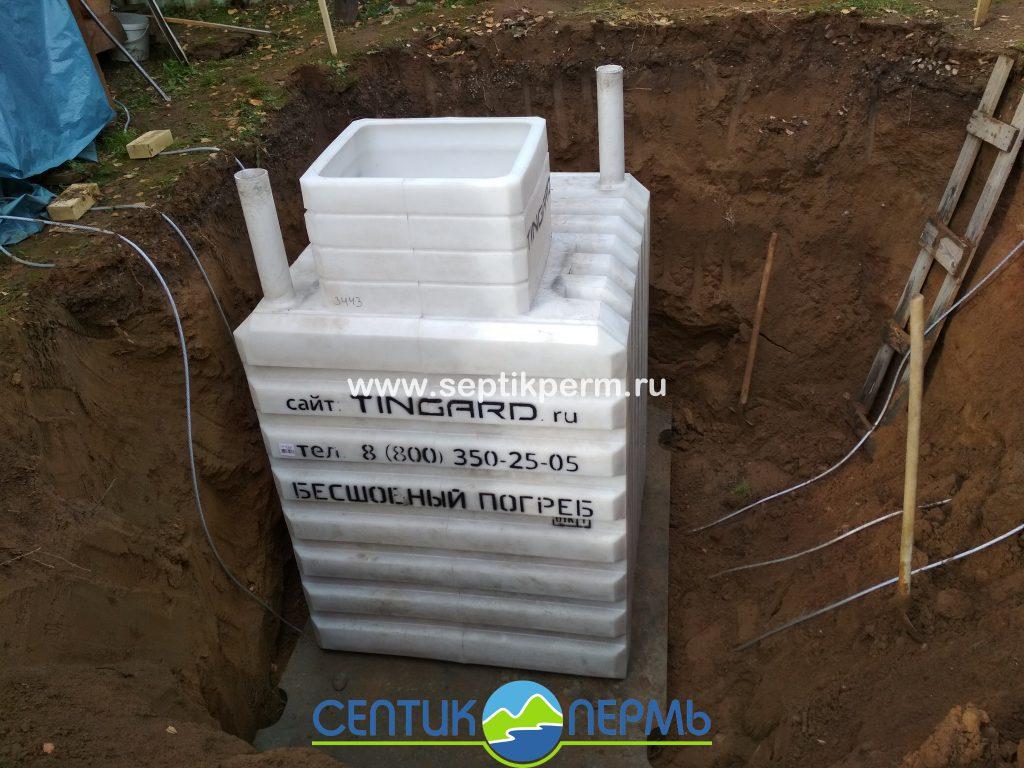 Монтаж погреба TINGARD 1500 в д.Кривое