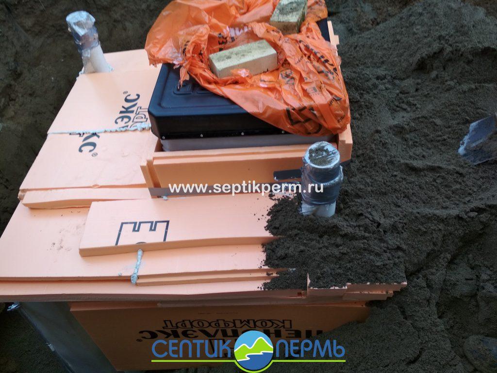 Монтаж пластикового погреба TINGARD 1500 в СНТ Кривое