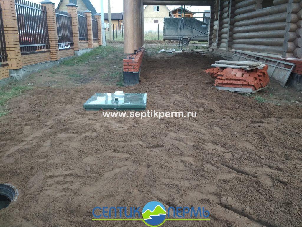Монтаж автономной канализации Топас 8 Долина рек близ д.Гари