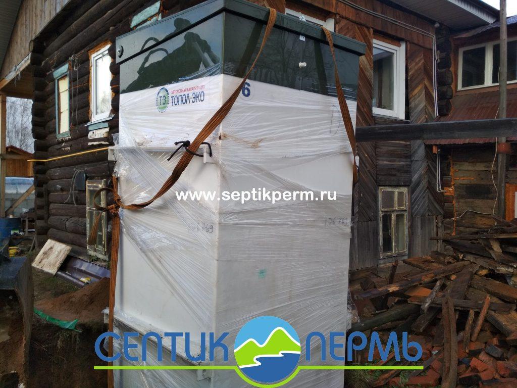Монтаж устройства очистки сточных вод Топас 6 Пр на 2-я Запольская (Налимиха).