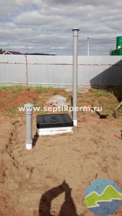 Монтаж пластикового погреба кессона под ключ