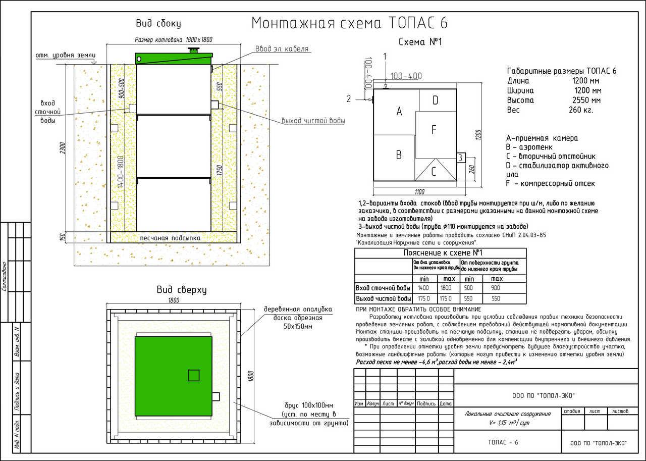 Монтажная схема Топас 6