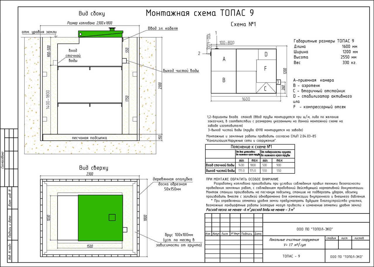 Монтажная схема Топас 9