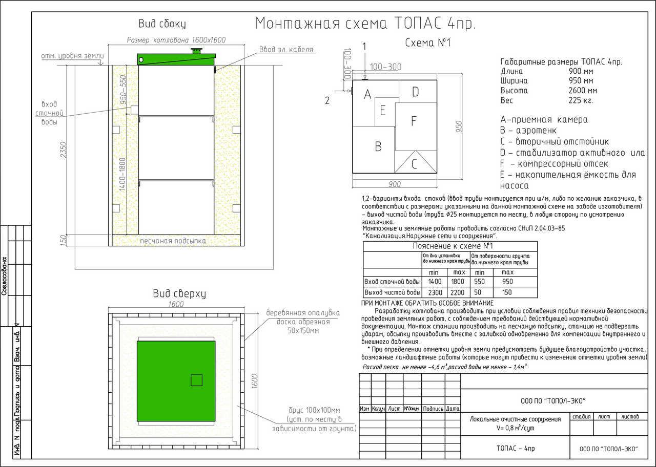 Монтажная схема ТОПАС 4 Пр