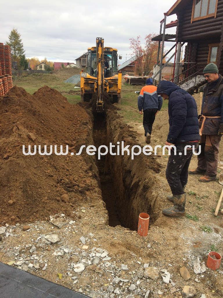 Установка септика топас в Усть-Качка
