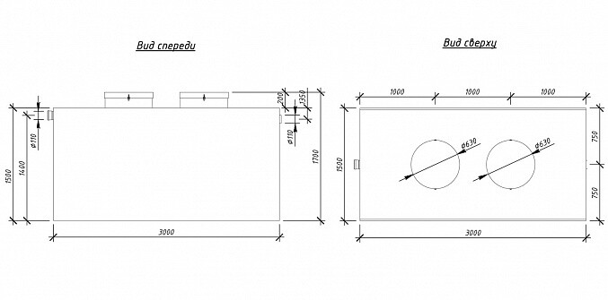 Схема установки жироуловителя