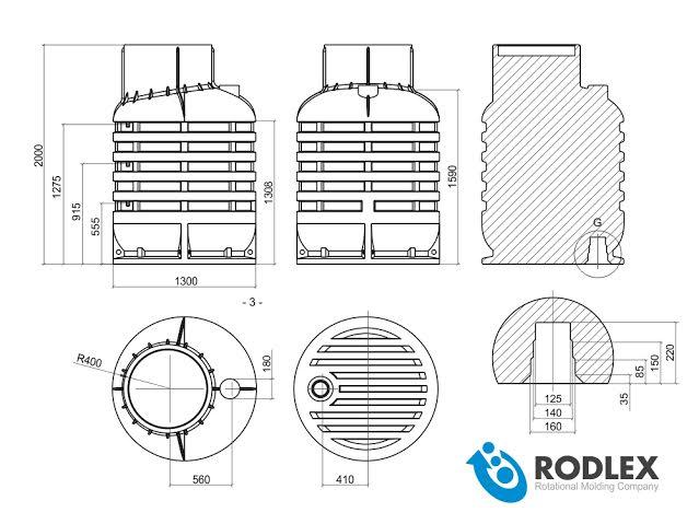 Кессон чертеж rodlex kS2